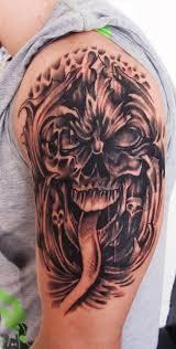 evil skull cover up by thirteen7s on deviantart