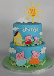 peppa pig birthday cakes peppa pig cake lil miss cakes lil miss cakes
