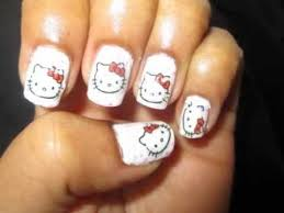 65 best hello kitty nails images on pinterest hello kitty nails