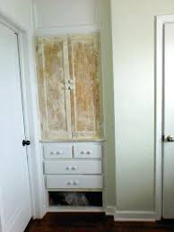 white linen cabinet with doors built in linen cabinet closet doors holhy for awesome house built in