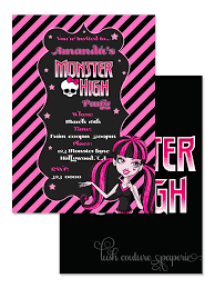 monster high party invitations u2013 gangcraft net