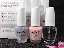 opi properly pink ntp01 gel break treatment system in 3 steps trio