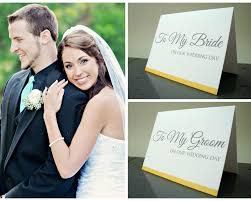 Groom And Groom Wedding Card Bride And Groom Gift To My Bride U0026 To My Groom On Our Wedding