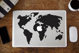 World Map Decal by World Map Macbook Decal Vinyl Infusion Vinyl Infusion
