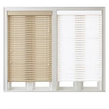 51 Inch Mini Blinds 2 Inch Faux Wood Blinds White Wooden Blinds With White Window