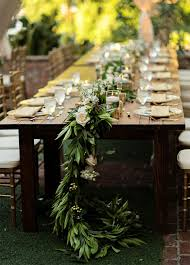 table runner what could be lovelier then a garland of greenery