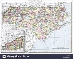 County Map Of North Carolina Map Of North Carolina Stock Photos U0026 Map Of North Carolina Stock