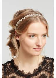 forehead headband solitaire stretch headband david s bridal