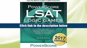favorite book the powerscore lsat logic games bible powerscore