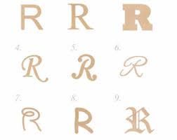 wooden letter r etsy