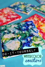 Diy Coasters Diy Coasters Fun Craft Coaster Making With Watercolors Try It Now