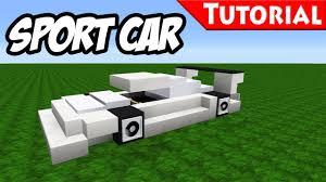 how to build a car garage minecraft easy sport race car tutorial bugatti veyron style