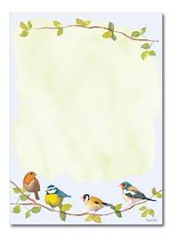 letter pad birds padblocks a5 doreens briefpapierwelt