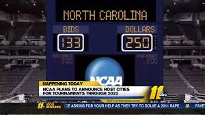 will north carolina host ncaa tournaments decision day approaches
