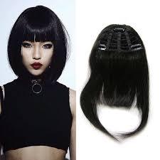 clip in fringe najwyższej jakości ludzkich włosów grzywka 100 ludzkie włosy klip