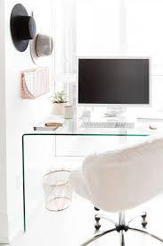 Office Desk With Glass Top Best 25 Glass Desk Ideas On Pinterest Glass Office Desk Home