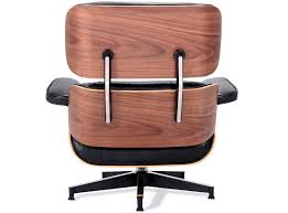 furniture walnut wood eames lounge chair replica with black base