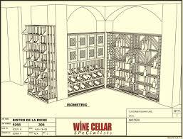 Wine Cellar Bistro - 3d drawing commercial wine racks bistro de la reine louisiana