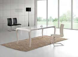 High Gloss Dining Table And Chairs Transitional White Gloss Dining Table