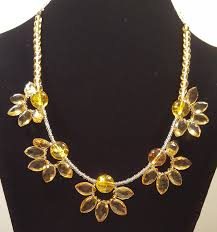 gold flower necklace designs images Citrine flower necklace martha 39 s designs png