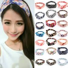 hair bands for fashion girl women elastic turban floral twisted knotted hair