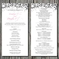 vow renewal program templates simple wedding ceremony program via etsy s