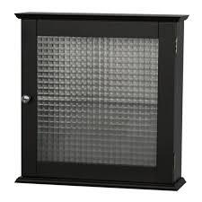 double door simple black wood bathroom storage cabinet wall mount