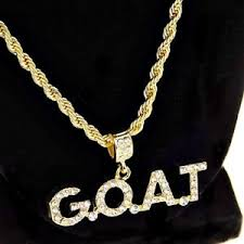 hip hop necklace images Mens g o a t rope chain bling goat pendant gold finish hip hop jpg