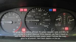 Honda Warning Lights 1995 Honda Civic Gauge Cluster Take Apart U0026amp Cleaning 21 Steps