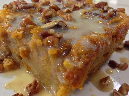 thanksgiving pudding recipes sweet potato bread pudding with vanilla cream sauce sweets