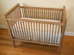 baby crib in natural with wooden nice pic surripui net