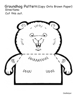 groundhog day theme unit and printables ideas activities