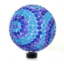 Garden Gazing Globe Home U0026 Garden Seaglass Blue Gem Gazing Globe Gazing Ball