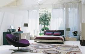 Master Bedroom Decorating Ideas Purple Bedroom Sweet Cream Furry Rug And Purple Velvet Lounge Chair With