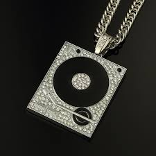 big chain necklace silver images Dj phonograph big pendant necklace men jewelry hiphop chain gold jpg