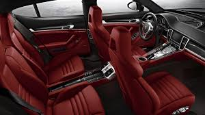 white porsche red interior new porsche panamera offers ca