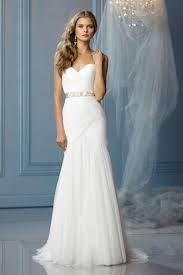 buy cheap sweetheart a line ruched wedding dress with beaded sash