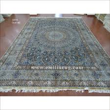 How To Sell Persian Rugs by 1 10 X 14 Blue Large Hand Knotted Handmade Pure Silk Living Room