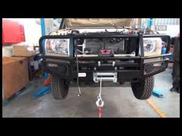 fitting of a winch u0026 bull bar to a toyota land cruiser 70 series
