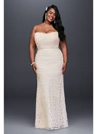 plus size country wedding dresses guipure lace sheath plus size wedding dress david s bridal