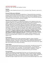 resume profile example example profile for resume profile for