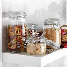 clear glass kitchen canisters amazing ksp vintage glass canister with lid set of clear kitchen pic