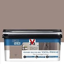 v33 cuisine et bain peinture décolab 100 étanche v33 brun humus 2 l leroy merlin
