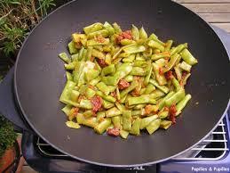 cuisiner des haricots plats poêlée de haricots plats au caviar de tomates