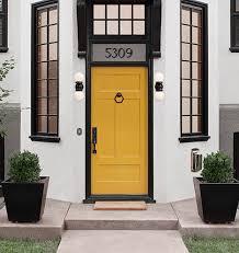 Exterior Door Bells Horizontal Doorbell Button Doorbell Button Yellow Doors