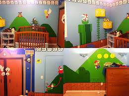 lucky kid mom creates super mario bros themed room geek mundo