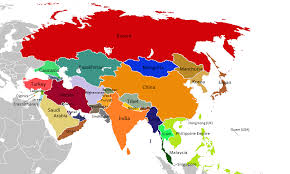 asia map asia labeled map