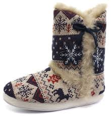 womens slipper boots size 11 buy dunlop navy womens nordic boot slippers size 7 8 in