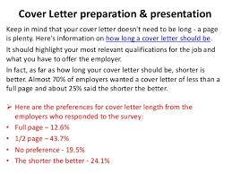 cover letter length cover letter guidelines