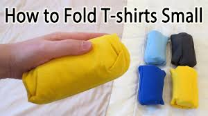how to fold a t shirt small to save space lifehack youtube